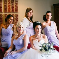 bride with bridesmaids at Alexander House, Sussex