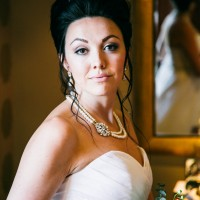 bride ready at Alexander House, Sussex