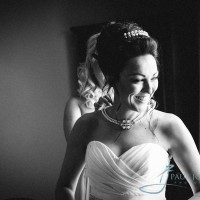 bride getting ready at Alexander House, Sussex