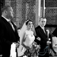 bride and groom in the ceremony