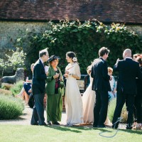 guests at a wedding at walled garden cowdray, wedding photography
