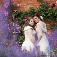 civil partnership at th ewalled garden cowdray, wedding photography