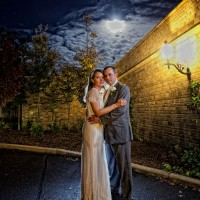 night photo at south lodge wedding