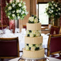 wedding cake at south lodge hotel sussex