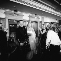 bride & groom at reception wedding photography at south lodge hotel sussex