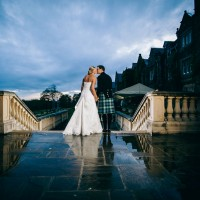 bride & groom at south lodge hotel sussex
