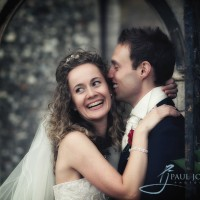 happy couple at Wiston House, West Sussex photography