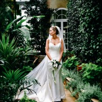 in the camelia room SG bride portrait