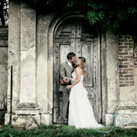 woburn abbeu bride & groom photo