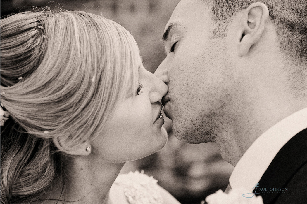 couple kiss on wedding, capture a moment in time