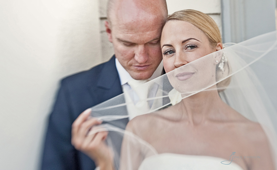 Award winning wedding photo of couple, close up portrait