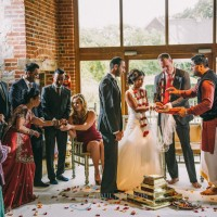The Hindu wedding ceremony photo in colour