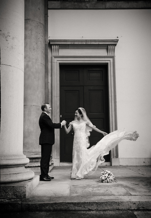 Wedding photo from a wedding help at Cliveden House