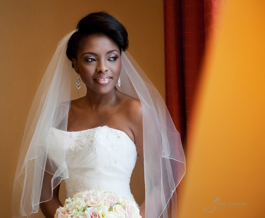 Nigerian bridal portrait in colour