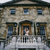 Bride & groom Botleys Mansion