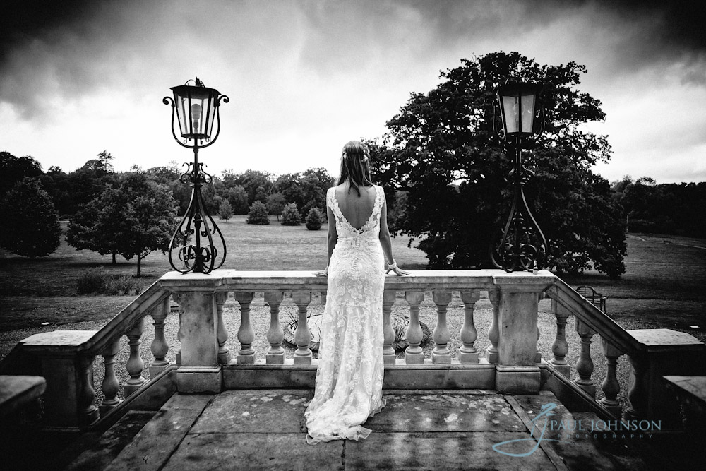wedding photo of bride at Botleys Mansion