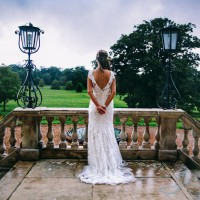 Bride at Botleys Mansion