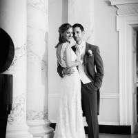 Bride & groom at Botleys Mansion