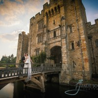 Hever Castle wedding photo